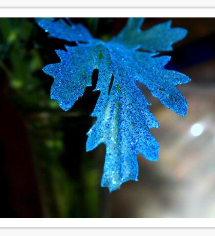 Blue Leaf Sticker