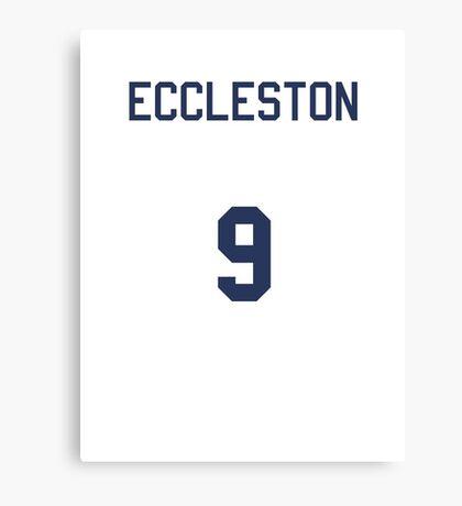 Doctor Who Sports Shirt- ECCLESTON Canvas Print