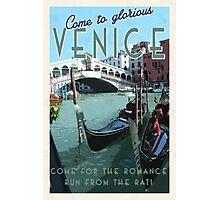 Venice, it's got some romance. Photographic Print