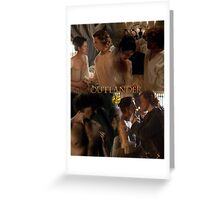Outlander Wedding collage/Jamie & Claire Fraser/ Greeting Card
