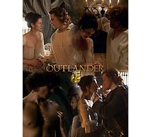 Outlander Wedding collage/Jamie & Claire Fraser/ Photographic Print
