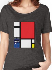 Dr. Who Composition in Red, Blue, and Yellow Women's Relaxed Fit T-Shirt