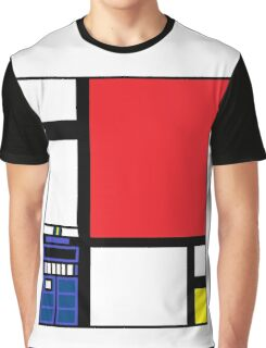Dr. Who Composition in Red, Blue, and Yellow Graphic T-Shirt