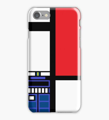 Dr. Who Composition in Red, Blue, and Yellow iPhone Case/Skin