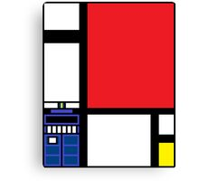 Dr. Who Composition in Red, Blue, and Yellow Canvas Print