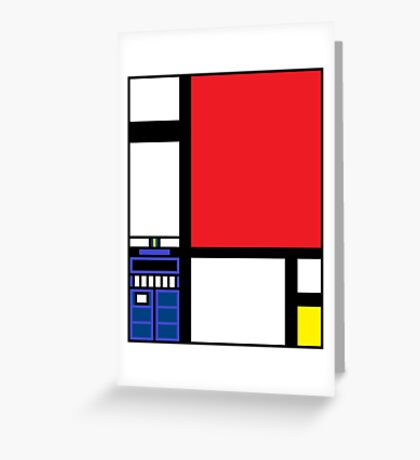 Dr. Who Composition in Red, Blue, and Yellow Greeting Card