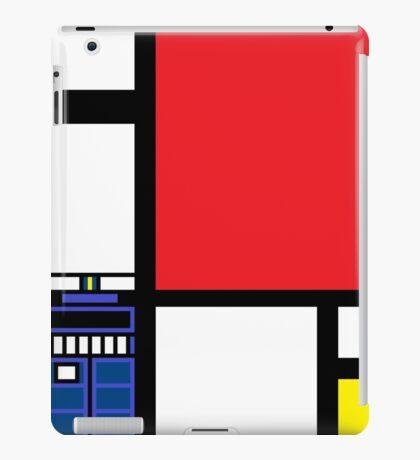 Dr. Who Composition in Red, Blue, and Yellow iPad Case/Skin