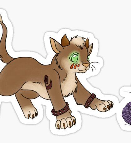 Druid Kitty 2 Sticker