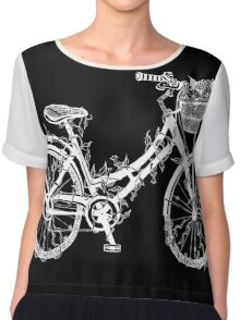 Floral Bike Chiffon Top