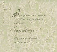 Happiness Quote  by Sandra Foster