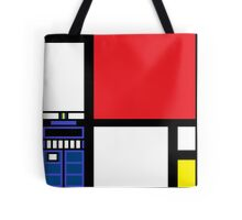 Dr. Who Composition in Red, Blue, and Yellow Tote Bag