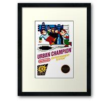 NES Urban Champion  Framed Print