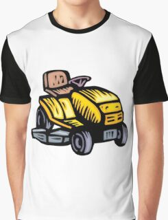Riding Lawn Mower Graphic T-Shirt