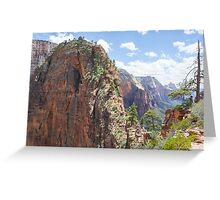 Hike up to Angels Landing Greeting Card