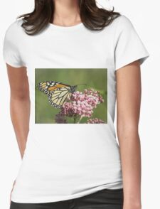 Monarch and Milkweed Womens Fitted T-Shirt