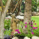 Garden Girl In Digital Oil  by Sandra Foster
