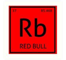 Element Rb - Red Bull Art Print