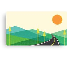 Road to hill landscape Canvas Print