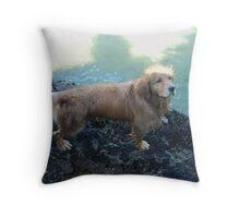 dog freedom Throw Pillow