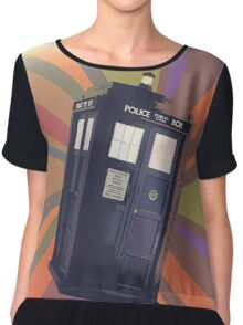 Tardis in the Time Vortex Chiffon Top