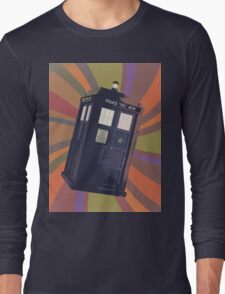 Tardis in the Time Vortex Long Sleeve T-Shirt