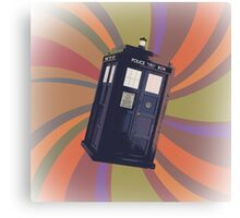 Tardis in the Time Vortex Canvas Print