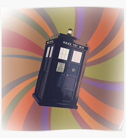Tardis in the Time Vortex Poster