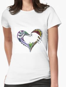 Polynesian heart tattoo Womens Fitted T-Shirt