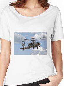 British Army Air Corps WAH-64D Longbow Apache AH1 Helicopter Women's Relaxed Fit T-Shirt