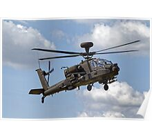 British Army Air Corps WAH-64D Longbow Apache AH1 Helicopter Poster