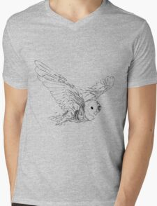 Owl Rot Mens V-Neck T-Shirt