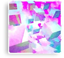 Abstract colorful water color painting Canvas Print