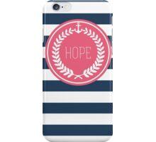 Stripes Nautical Hope iPhone Case/Skin