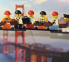 High-rise lunch break, Golden Gate Bridge by themindfulart