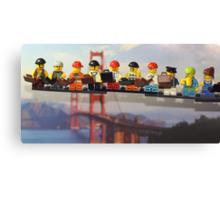 High-rise lunch break, Golden Gate Bridge Canvas Print