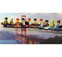 High-rise lunch break, Golden Gate Bridge Photographic Print
