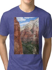 Zion Valley at Zion National Park Tri-blend T-Shirt