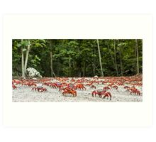 Red Crab Migration - The Journey Begins Art Print