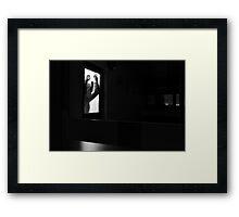 Dark Man On The Stairwell Framed Print