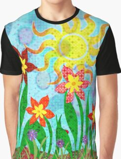 Fanciful Flowers Graphic T-Shirt