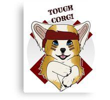 Tough Corgi, Ready for Battle! Canvas Print