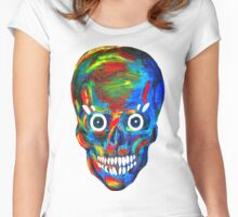 Rainbow Skull Women's Fitted Scoop T-Shirt