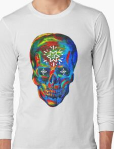 Rainbow Skull Long Sleeve T-Shirt