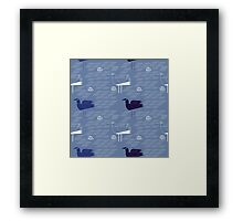 Seagulls and waves  Framed Print