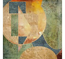 Abstract Grunge Patchwork Photographic Print