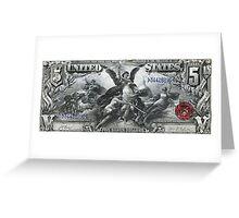 Five U.S. Dollar Bill - 1896 Educational Series  Greeting Card