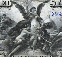 Five U.S. Dollar Bill - 1896 Educational Series  Sticker