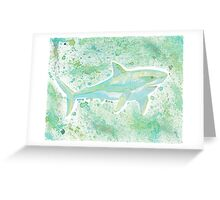 Great White Shark Splatter Greeting Card