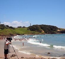 The swimmers take to the water for a 2K ocean swim YAMBA NSW Australia by Margaret Morgan (Watkins)