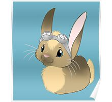 Goggle Bunny Poster